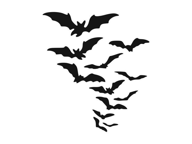 Bats clipart bat swarm, Bats bat swarm Transparent FREE