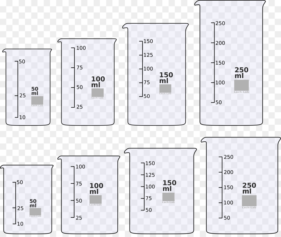 Beaker clipart 50 ml, Beaker 50 ml Transparent FREE for