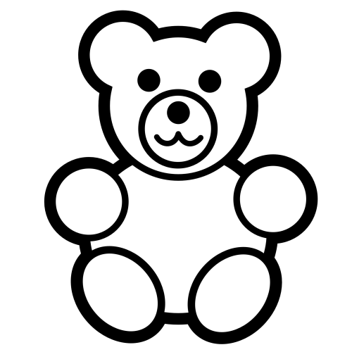 small resolution of teddy bear black and white panda free worm clipart outline