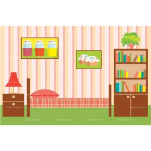 bedroom clipart background boy vector rooms cliparts royalty webstockreview