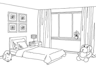 Bedroom clipart black and white Bedroom black and white Transparent FREE for download on WebStockReview 2020