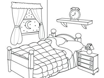 Bedroom clipart black and white Picture #267967 bedroom clipart black and white