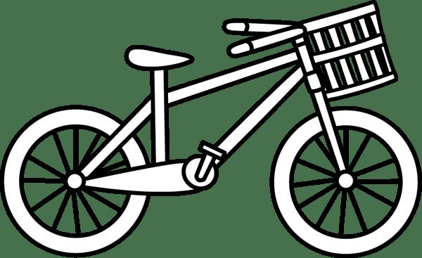 Bike clipart black and white, Bike black and white