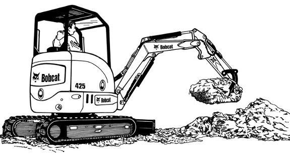 Bobcat clipart digger, Bobcat digger Transparent FREE for