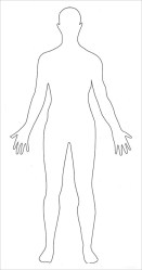 human outline body printable template blank clipart simple templates pdf outlines diagram drawing word cuerpo anatomy ppt premium draw clip
