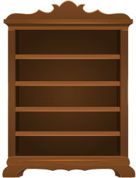 clipart empty bookshelf transparent bookcase clip cartoon webstockreview cliparts