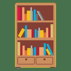 bookshelf transparent clipart icon wooden hd vector pluspng svg webstockreview tv
