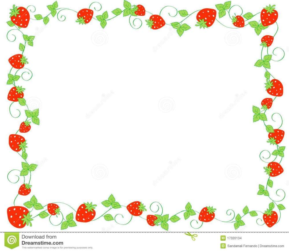 medium resolution of border clipart strawberry