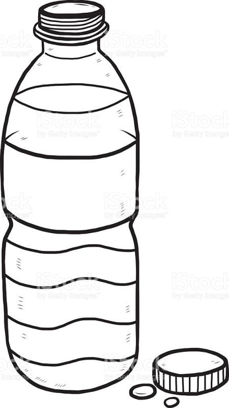 Bottle clipart black and white, Bottle black and white