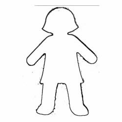 Boy Body Outline Clipart