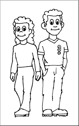 Brothers clipart black and white, Brothers black and white
