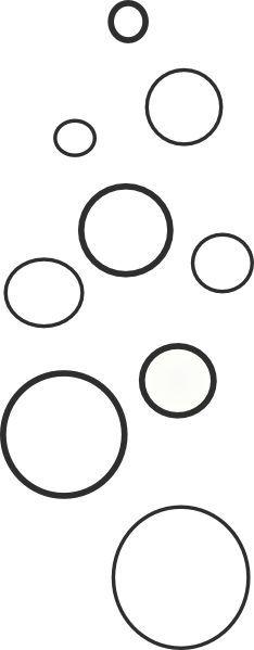 Bubble clipart black and white, Bubble black and white