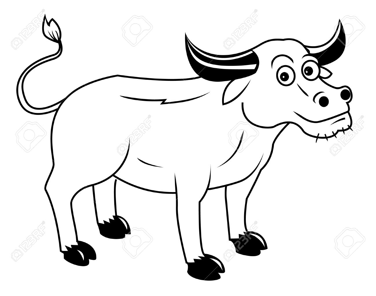 Buffalo Clipart Black And White Buffalo Black And White