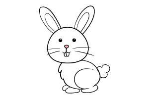 bunny rabbit easter draw drawing easy clipart 2d cartoon bunnies simple drawings outline gambar kelinci lucu transparent bugs kartun webstockreview