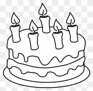 Cake clipart black and white, Cake black and white