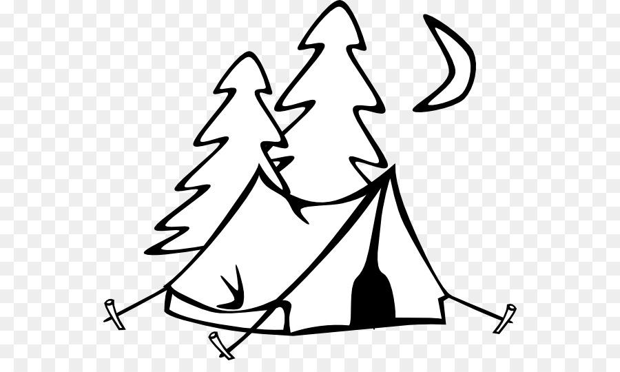 Camping clipart line art, Camping line art Transparent
