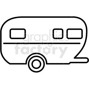 Camper clipart outline, Camper outline Transparent FREE