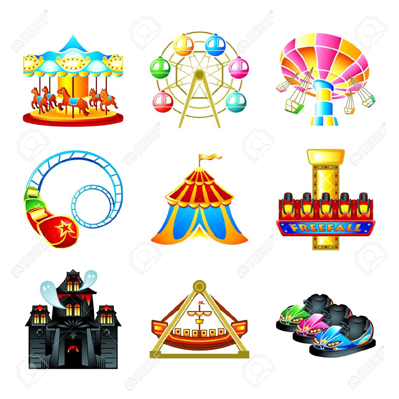 hight resolution of free carnival clipart amusement park