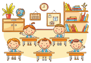 clipart student classroom cartoon painting transparent clip children thoughts thinking
