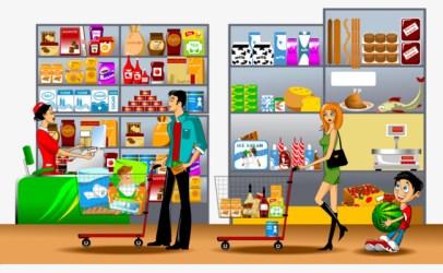 clipart supermarket cashier checkout webstockreview child line food