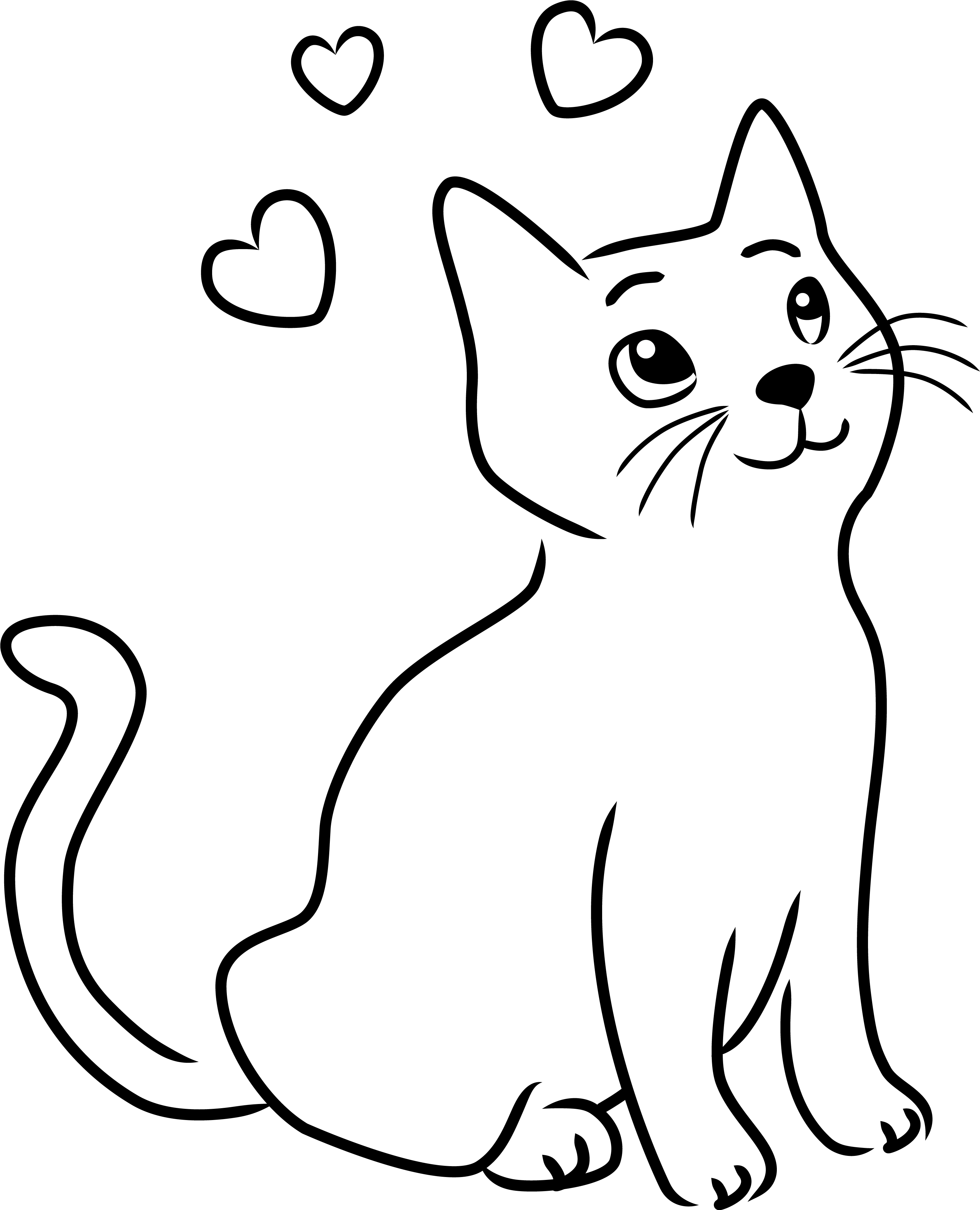 Cats Clipart Outline Cats Outline Transparent Free For