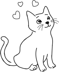 Cat clipart simple Cat simple Transparent FREE for download on WebStockReview 2020