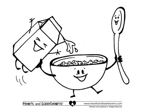 Cereal clipart coloring page, Cereal coloring page
