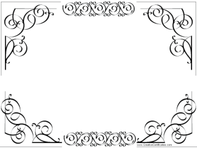 Certificate clipart outline, Certificate outline