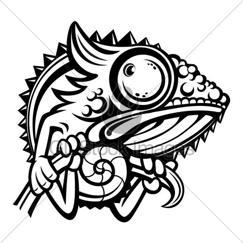 Chameleon clipart chameleon outline, Chameleon chameleon