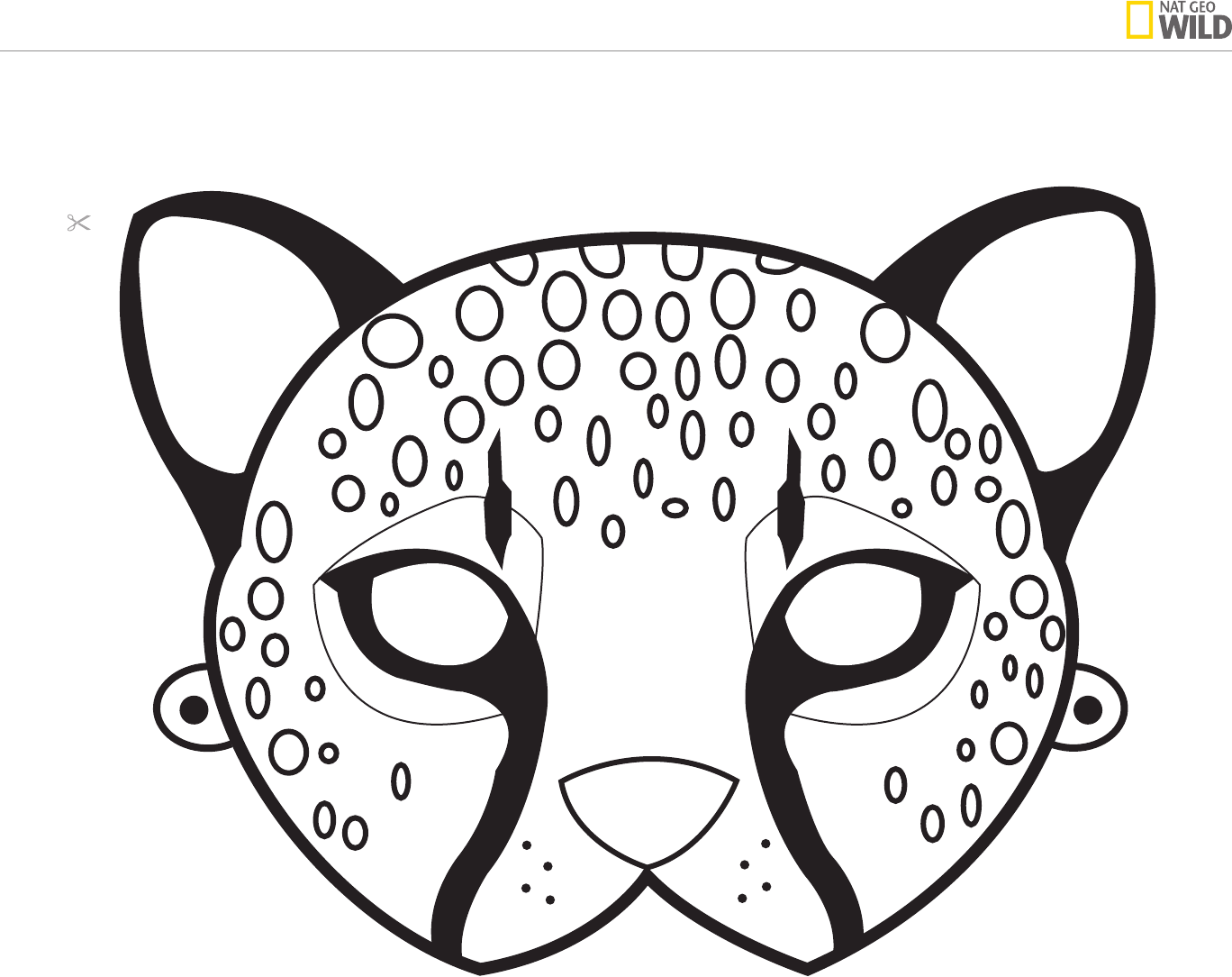 Cheetah clipart mask, Cheetah mask Transparent FREE for