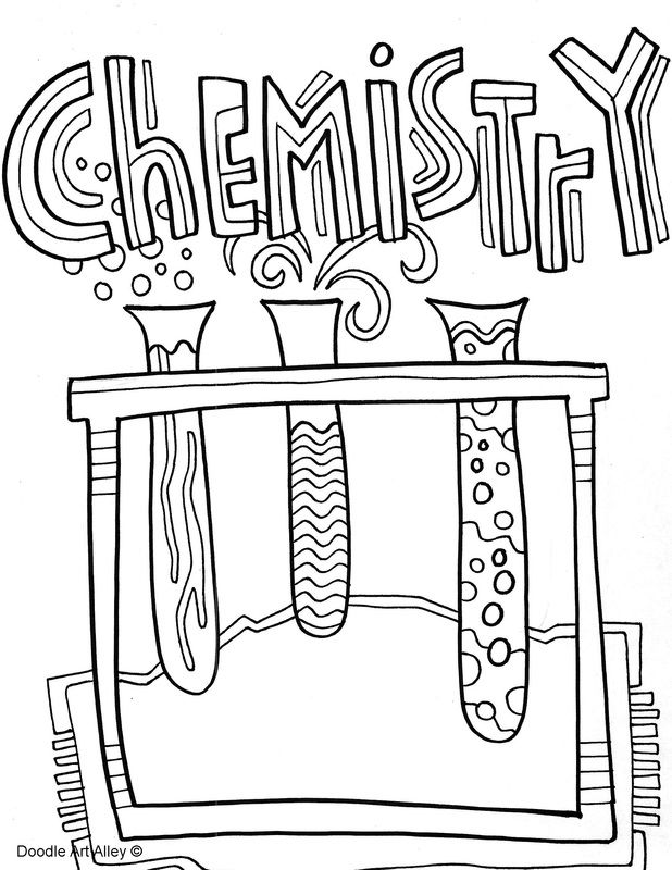 Chemistry clipart title page, Chemistry title page