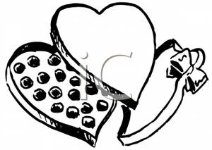 Chocolate clipart black and white, Chocolate black and