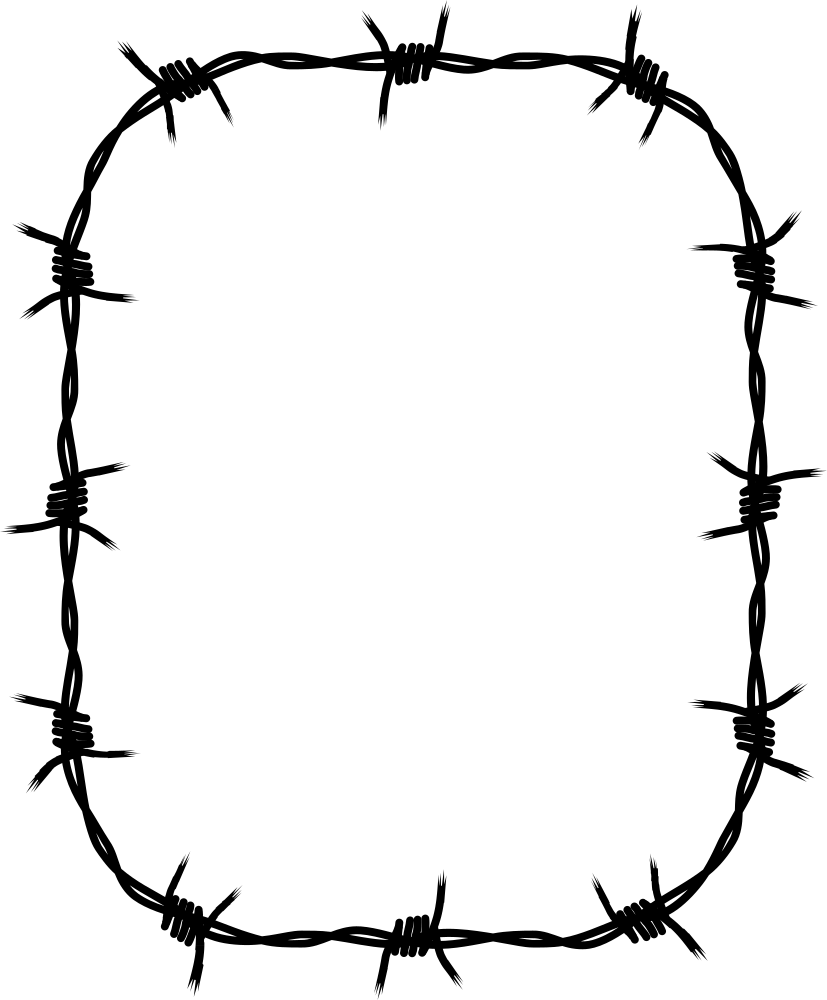 Circle clipart barbed wire, Circle barbed wire Transparent