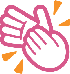 clap clipart clapping [ 1024 x 1024 Pixel ]