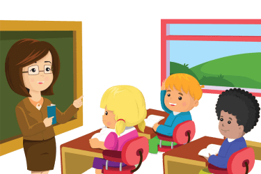 clipart classroom student teacher transparent profesora animado teach imagen clip patient ensenando ninos background class students con lights behavior teaches