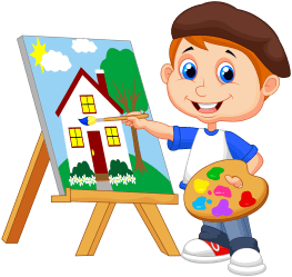 clipart painting student transparent classroom animated webstockreview