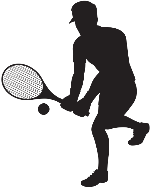 small resolution of player silhouette clip art clipart sports tennis