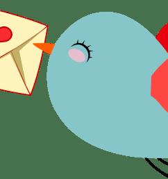 cute mail carrier bird by gdj pinterest office clipart farewell  [ 2310 x 1398 Pixel ]