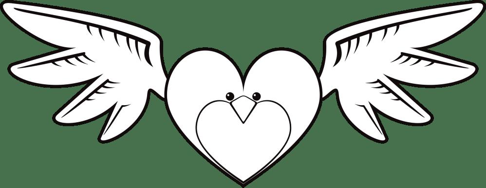 medium resolution of clipart face big bird heart line art image