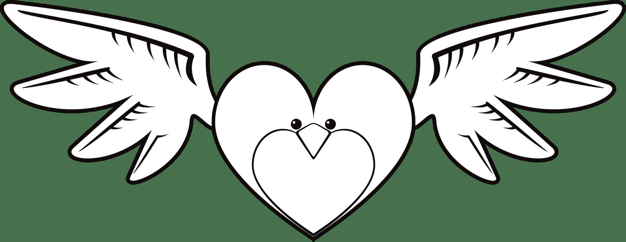 hight resolution of clipart face big bird heart line art image