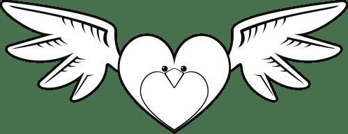 small resolution of clipart face big bird heart line art image