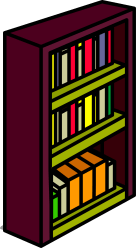 clipart shelf books bookshelf transparent library collection sprite clip webstockreview