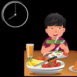 clipart eating breakfast transparent clock cartoon food healthy timer schedule meals webstockreview child digital