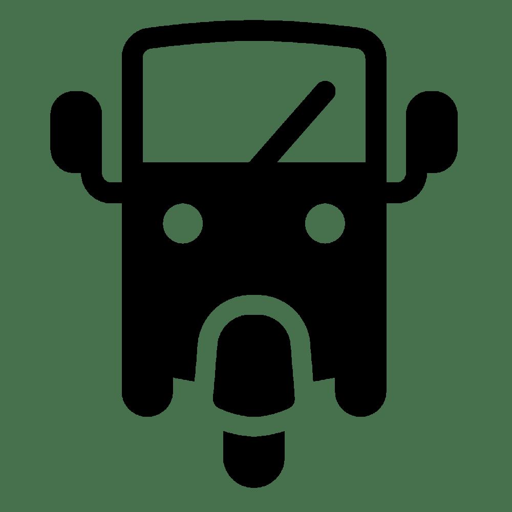 medium resolution of clipart present three wheel car filled icon