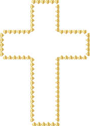 cross clipart transparent background golden hearts gold clip crucifix christian wedding backgrounds fancy openclipart symbol webstockreview bells silver hipwallpaper watercolor