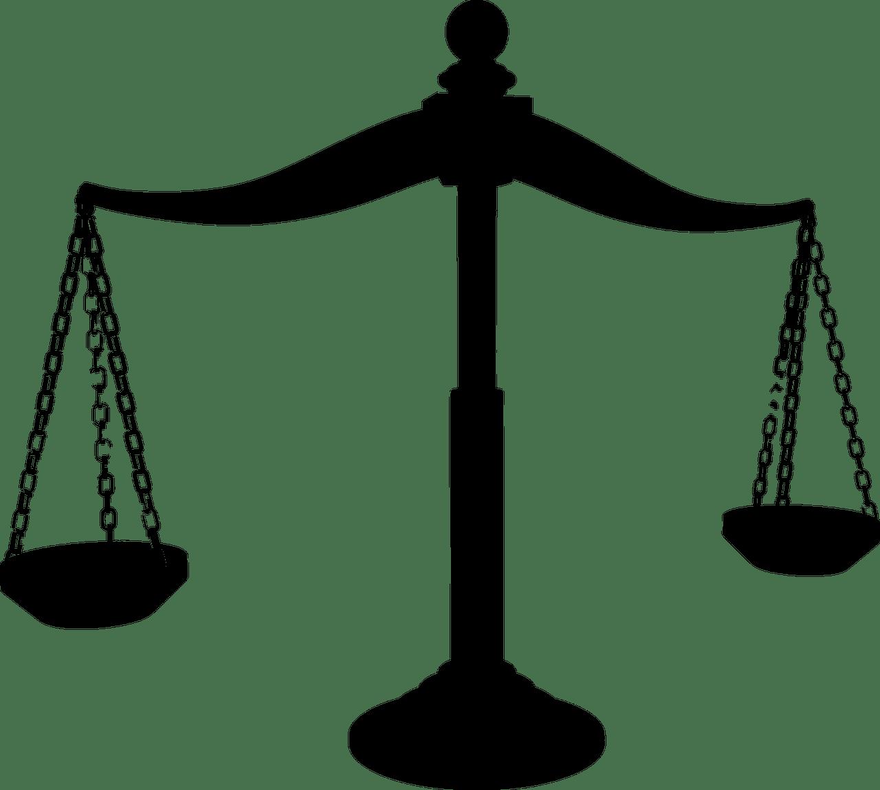 Laws clipart balance scale, Laws balance scale Transparent