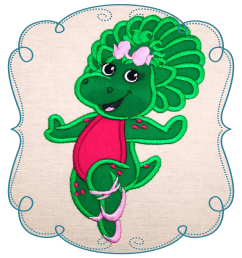 barney and friends at getdrawings com free design clipart embroidery  [ 1000 x 1000 Pixel ]