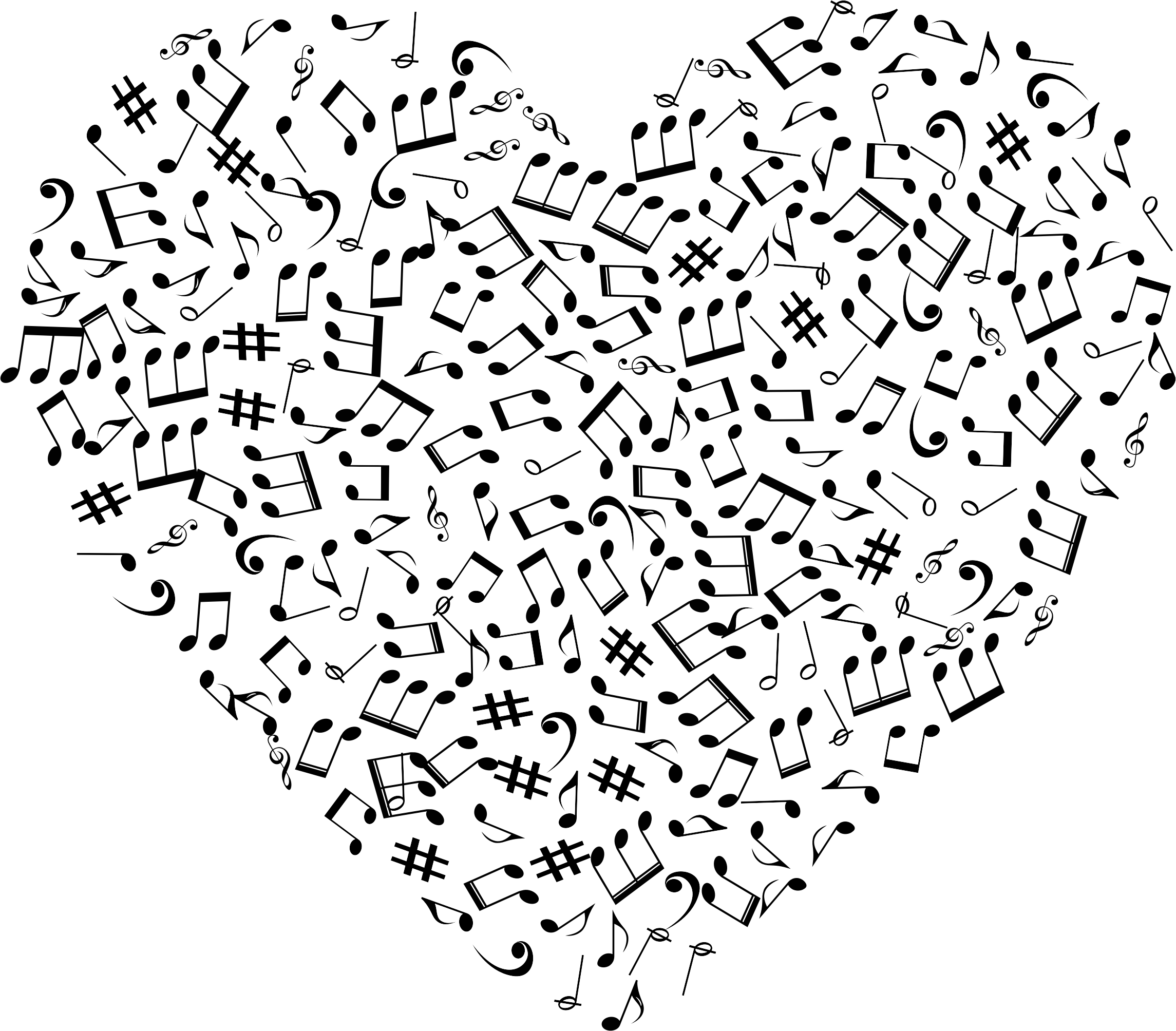 Musical Clipart Heart Musical Heart Transparent Free For