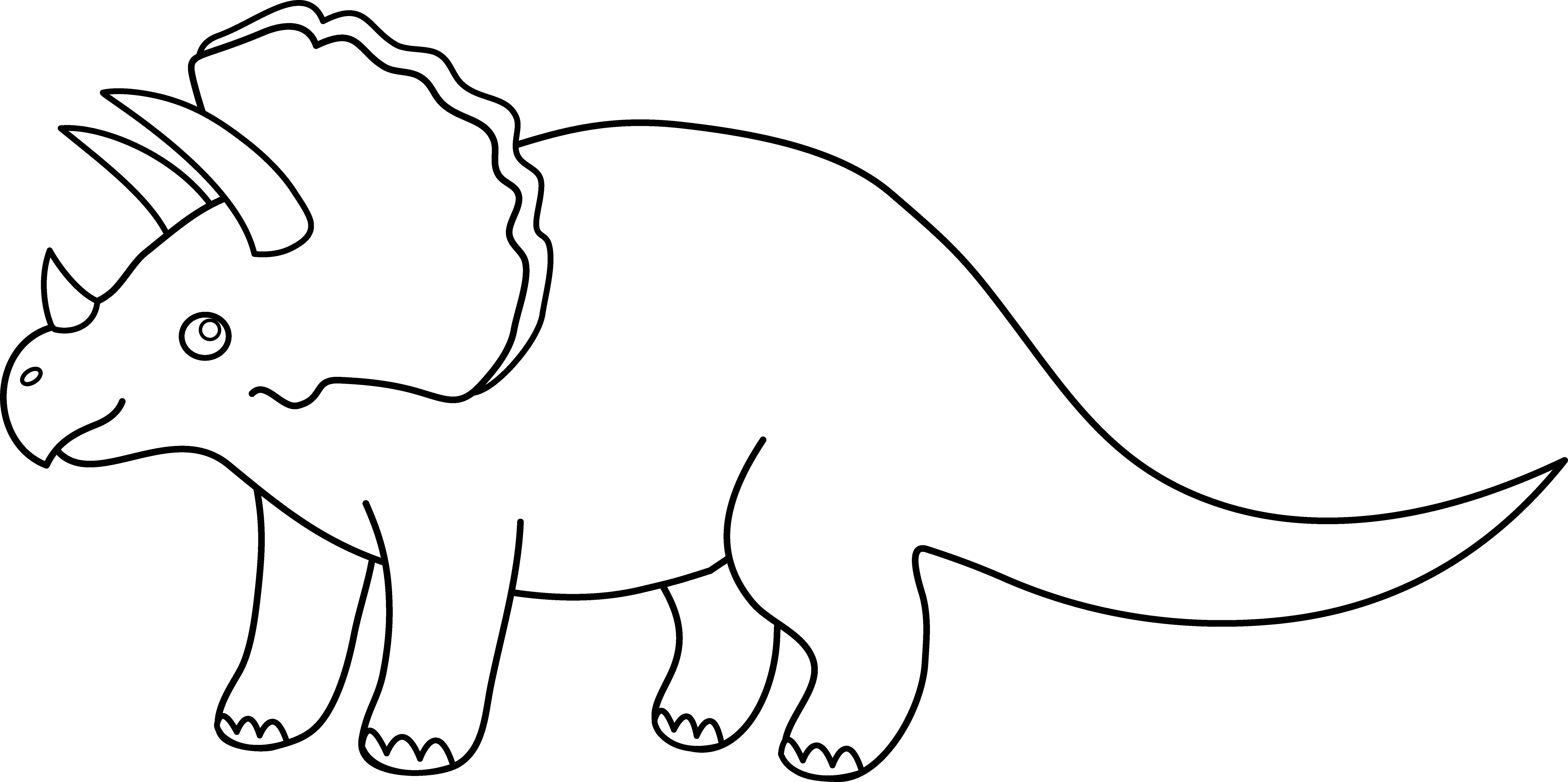 Dinosaurs Clipart Traceable Dinosaurs Traceable