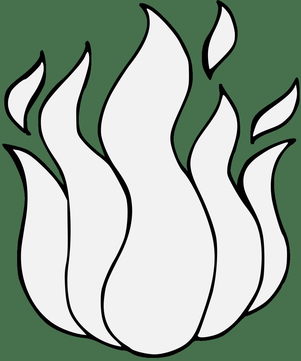 Clipart Flames Traceable Clipart Flames Traceable